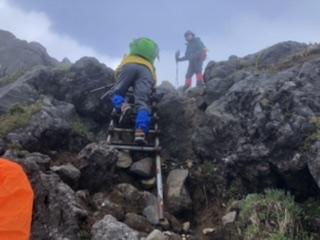 外輪山からの下山ルート