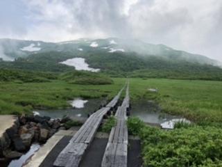 竜ヶ原湿原から鳥海山を目指す